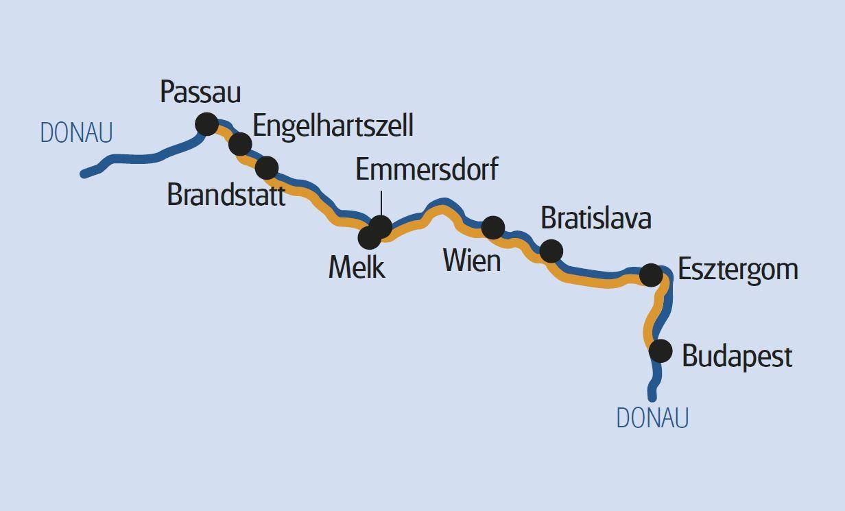 Radtour Donau: Passau – Budapest – Passau