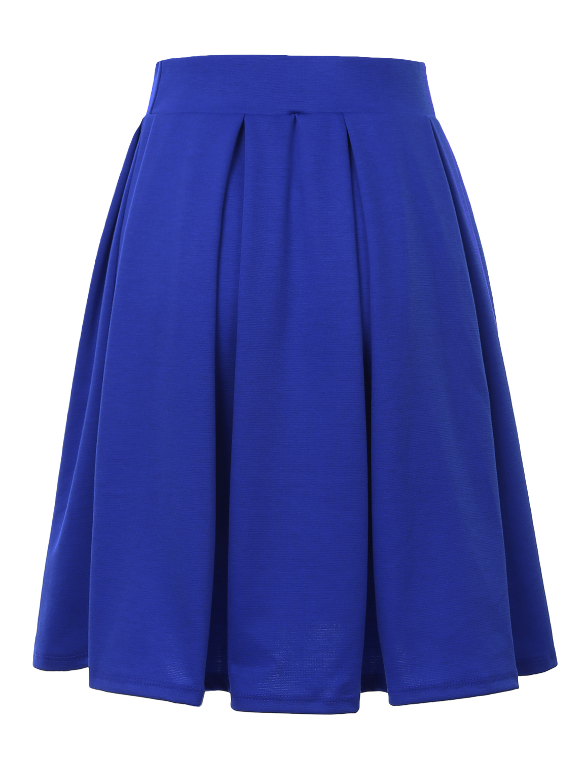 Doublju-Elastic-Waist-Flare-Pleated-Skater-Midi-Skirt-for-Women-with-Plus-Size thumbnail 21