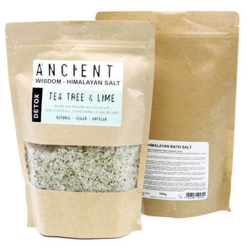 himalayan bath salt blends - detox - tea tree & lime