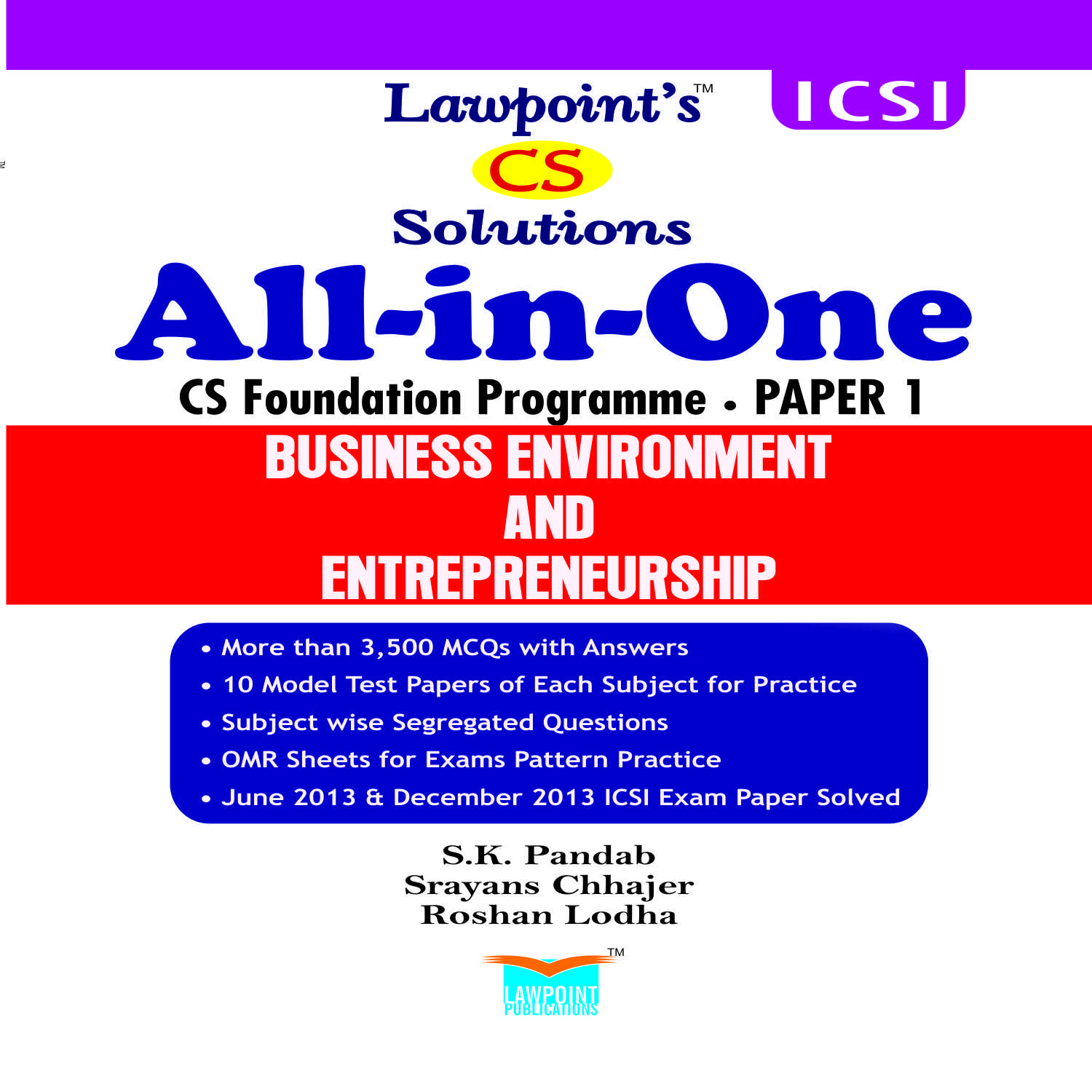 Lawpoint's All in One - CS Foundation (Set of 4 Books)