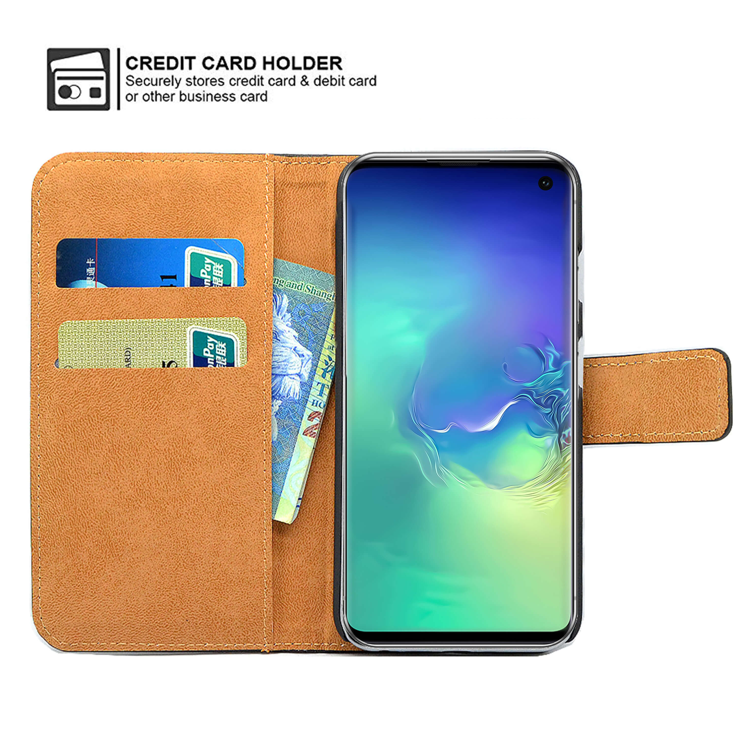 Leather-Flip-Wallet-Magnetic-Case-Cover-For-Samsung-Galaxy-S10-Plus-S9-S8-A50 thumbnail 14