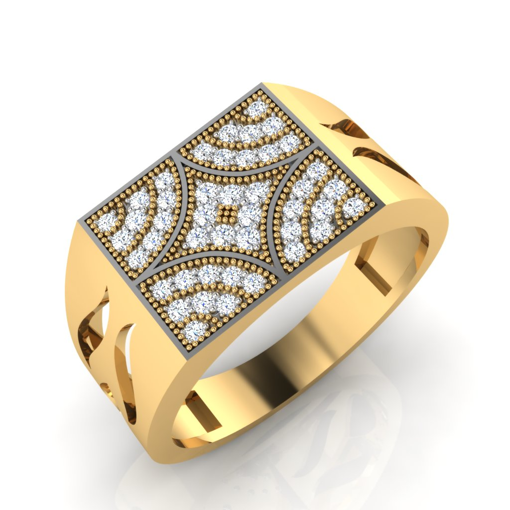 The Tipsy Diamond Mens Ring