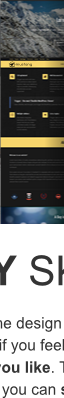 One Pager skin of easily skinnable Mustang Multipurpose WordPress theme