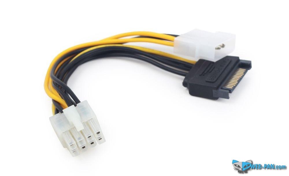 Переходник для подключения 8-pin PCIe (для видеокарты) Gembird CC-PSU-82