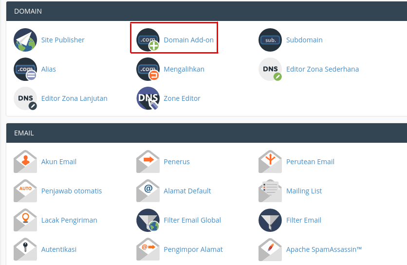 Domain Add-on