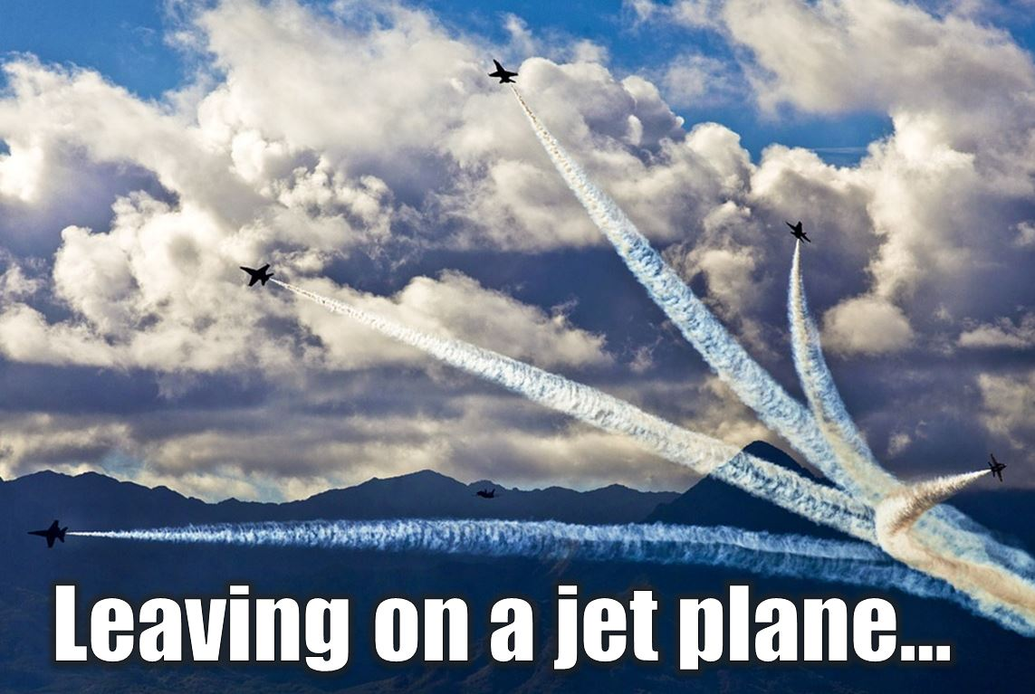Jet planes flying