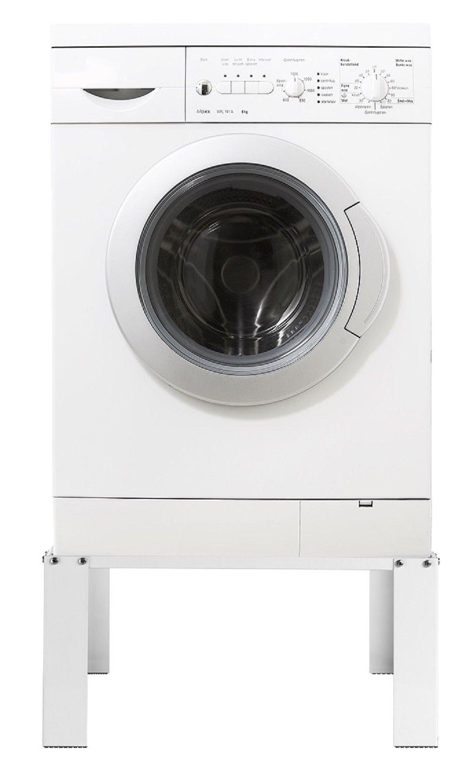 erh hung f r waschmaschine trockner untergestell stahlgestell 30 x 62 x 53 cm ebay. Black Bedroom Furniture Sets. Home Design Ideas