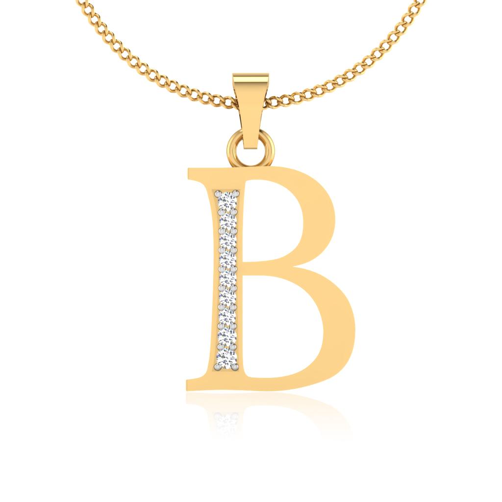 The Classy B Diamond Pendant