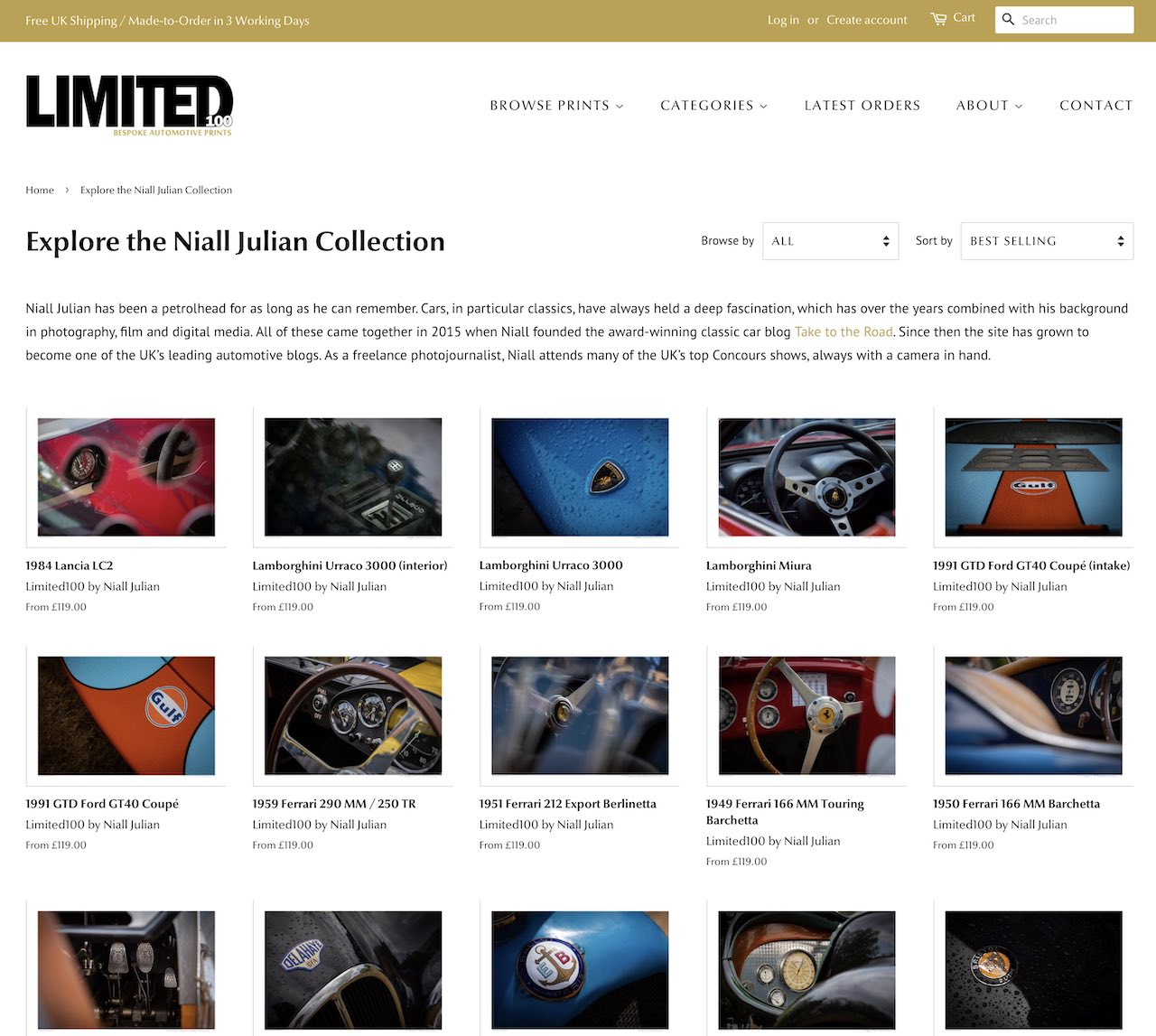 Niall Julian joins Limited100 as contributing photographer