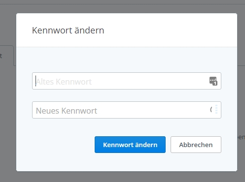 AuAuch in der persönlichen Dropbox kann man kurzerhand das Passwort ändern.