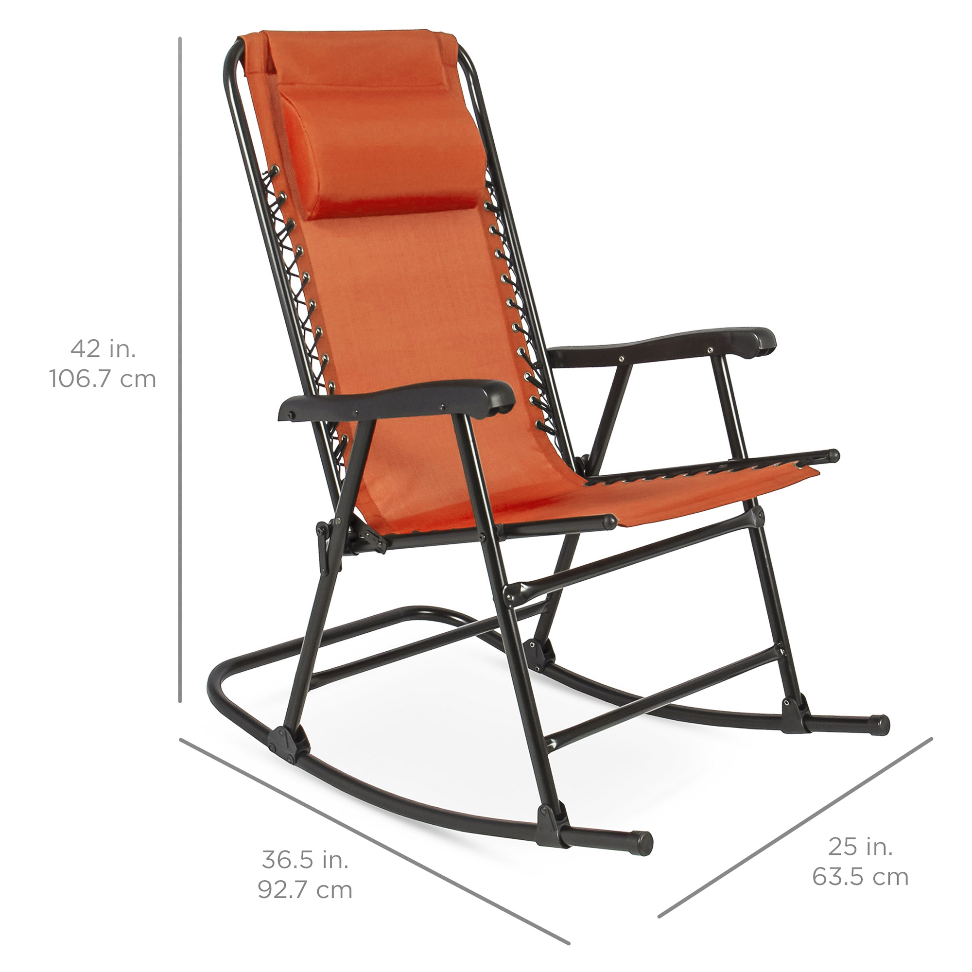 BCP-Foldable-Zero-Gravity-Patio-Rocking-Lounge-Chair thumbnail 56