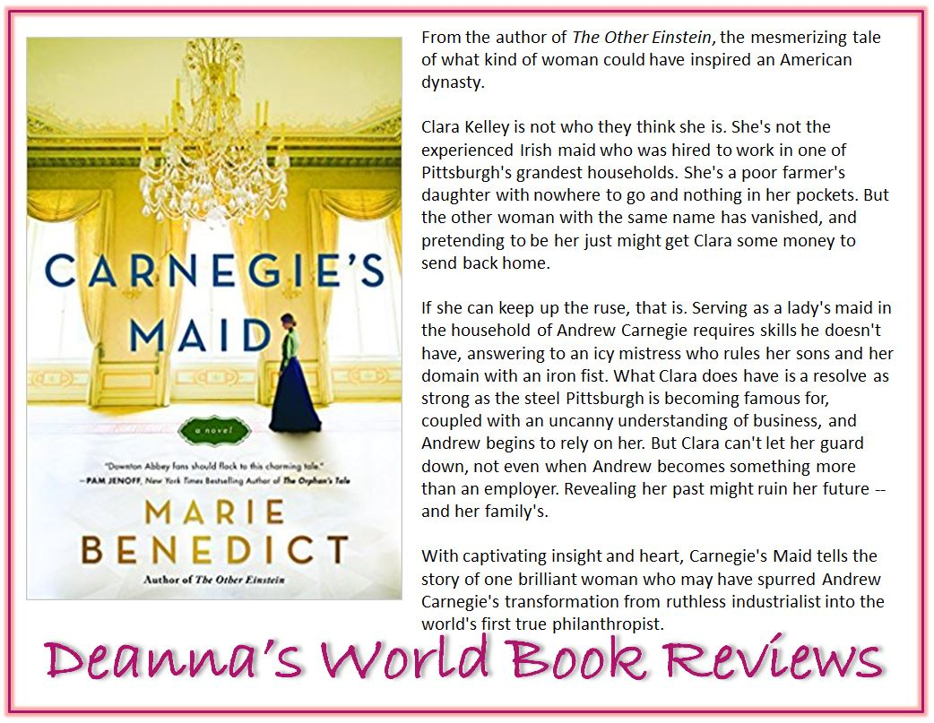 Carnegie's Maid by Marie Benedict blurb