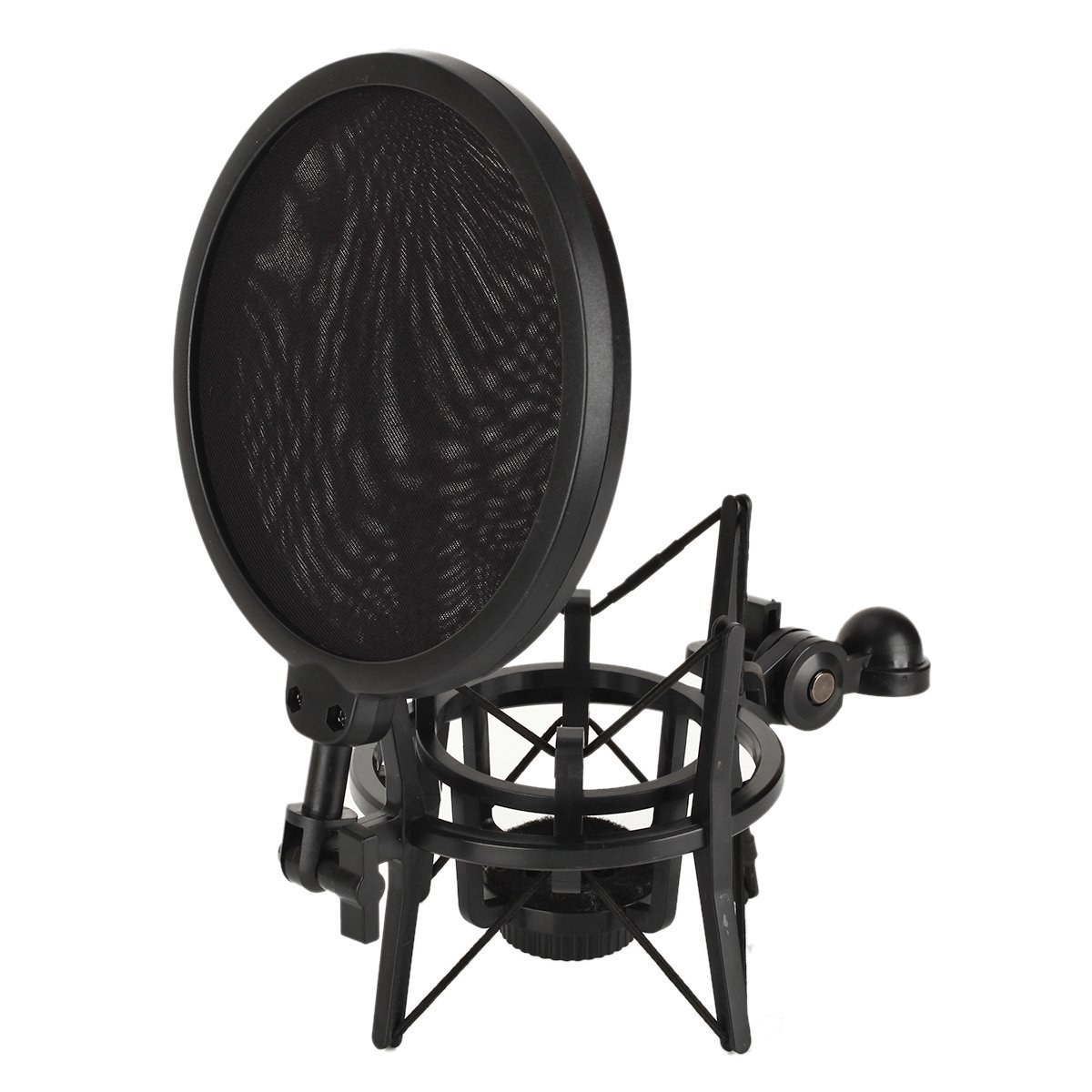 other computers networking studio microphone mic shock mount with pop filter mic windscreen. Black Bedroom Furniture Sets. Home Design Ideas