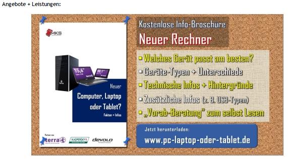Im oberen Bereich der Seite ist ein sog. Slider mit Infos zu Produkten, Angeboten + Gratis-Downloads zu finden.