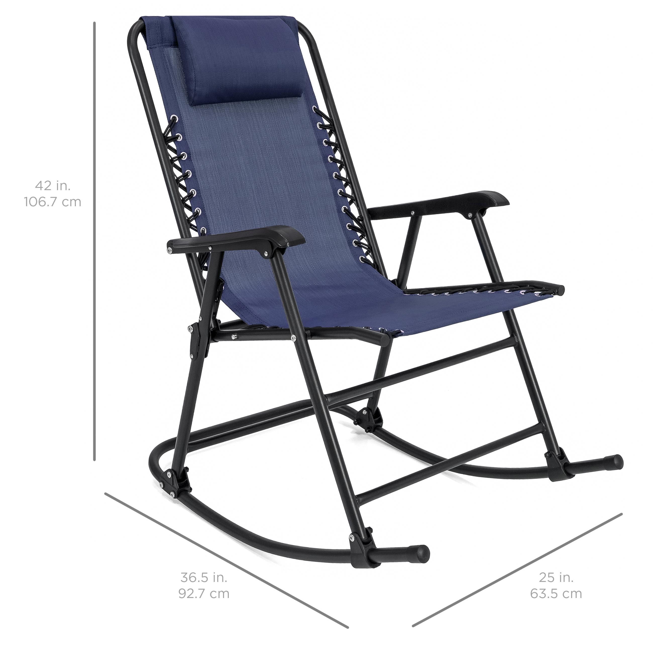 BCP-Foldable-Zero-Gravity-Patio-Rocking-Lounge-Chair thumbnail 28