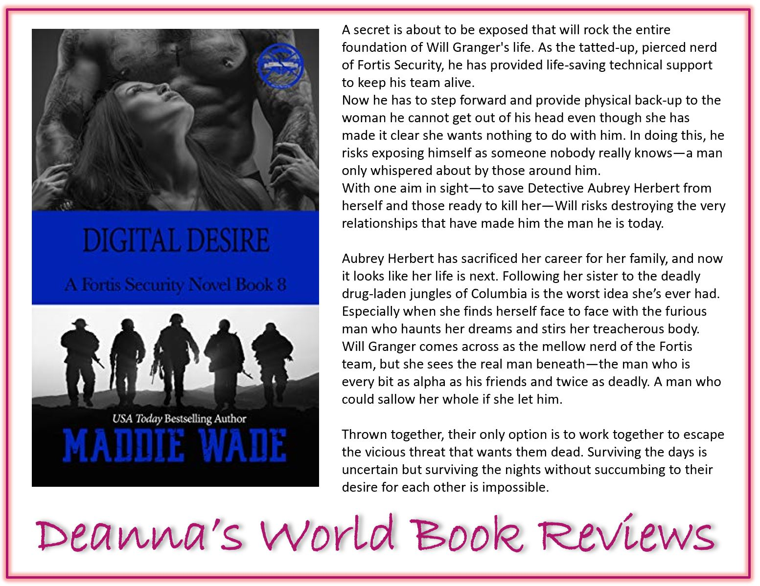 Digital Desire by Maddie Wade blurb