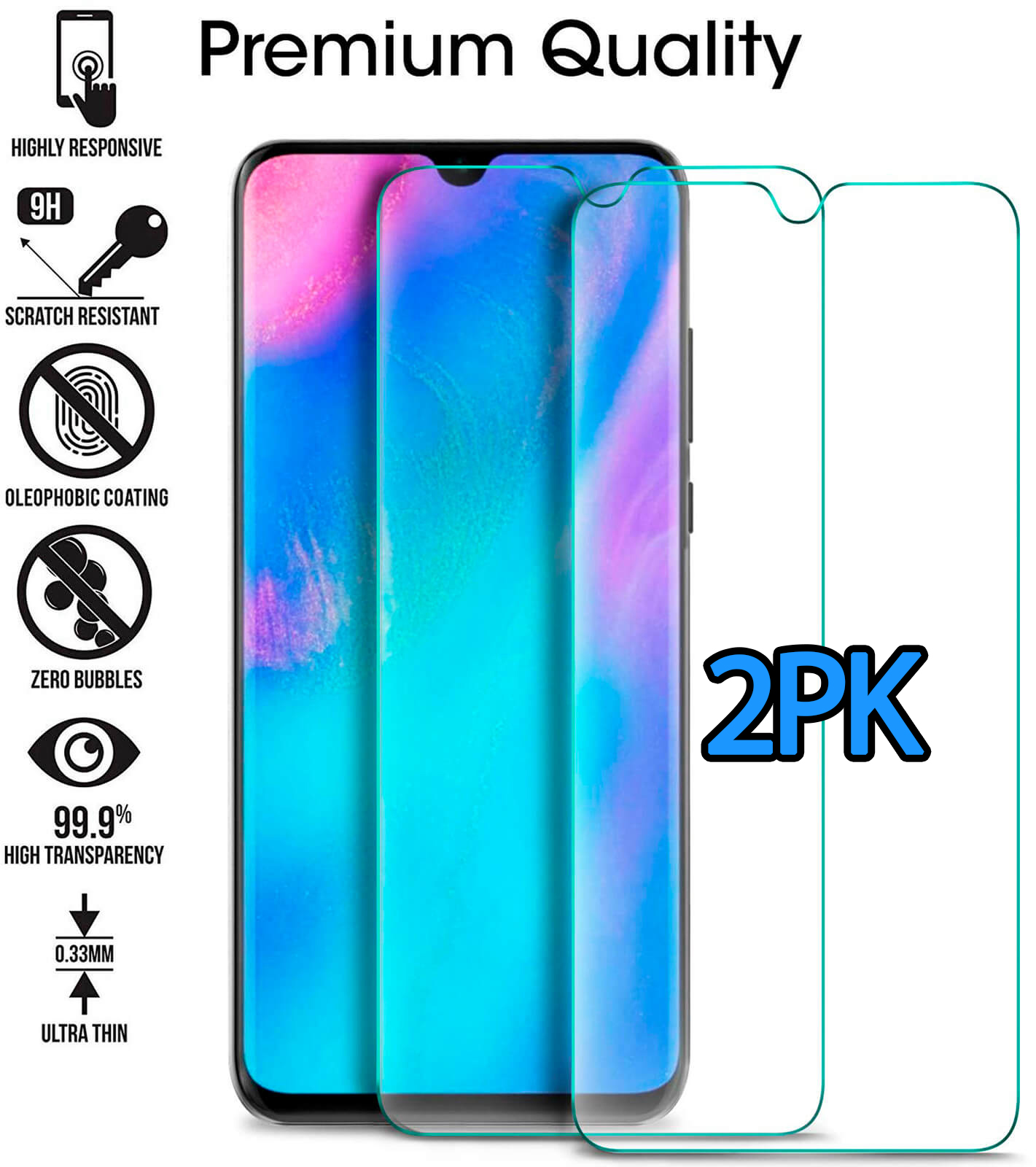 Clear-Gel-Case-For-Huawei-P30-Pro-P20-Mate-20-Lite-Tempered-Glass-Screen-Cover thumbnail 111