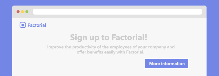 Sign up Factorial