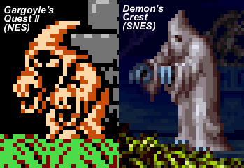 Robed ghost enemies from the two sequels.  I based my color scheme on the Demon's Crest version, rather than the crazy purple seen in the packaging artwork above.