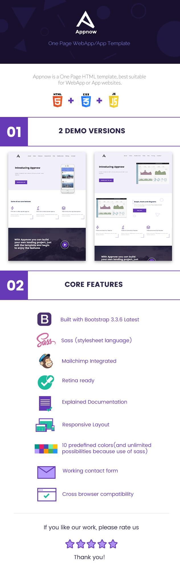 Appnow - One Page WebApp-App HTML Template - 1