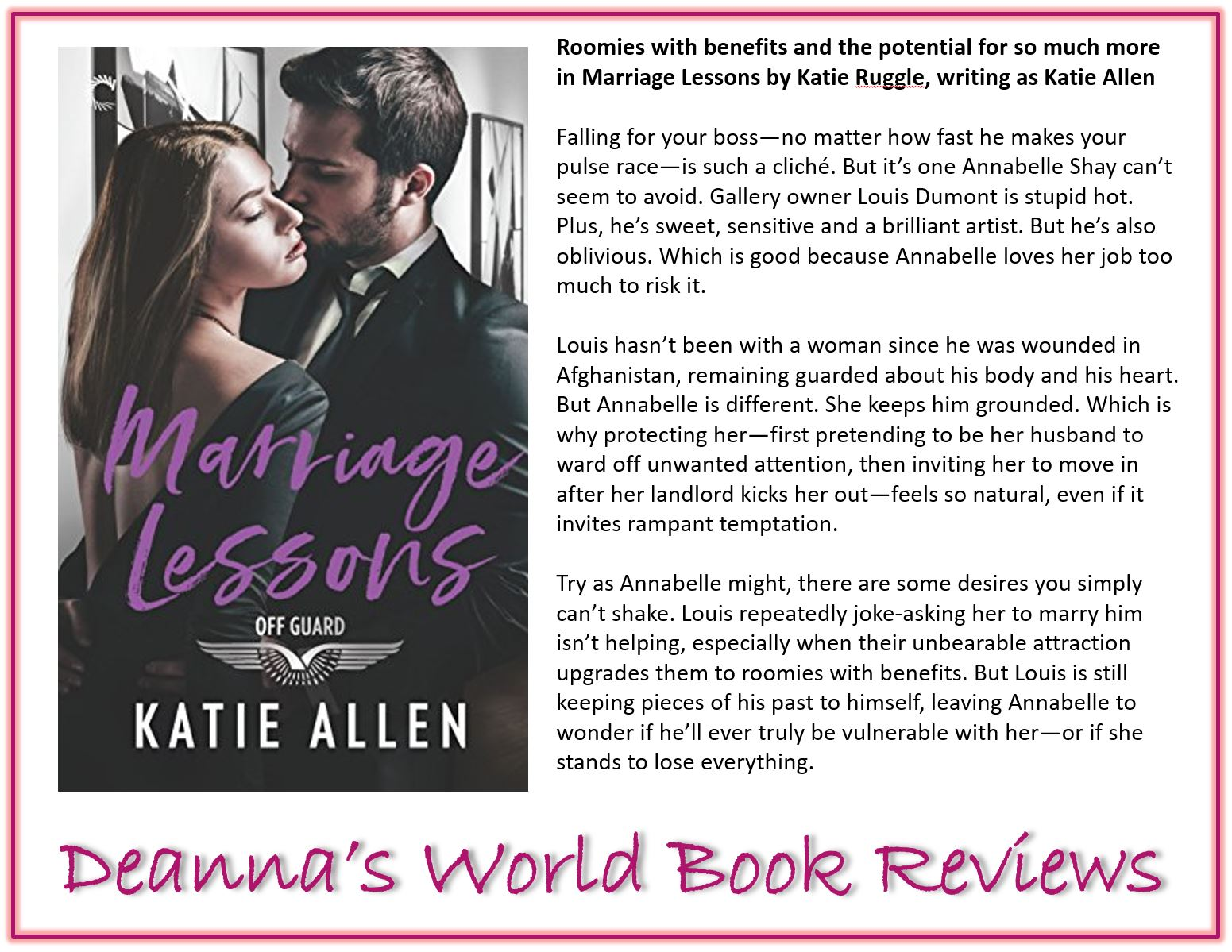 Marriage Lessons by Katie Allen blurb