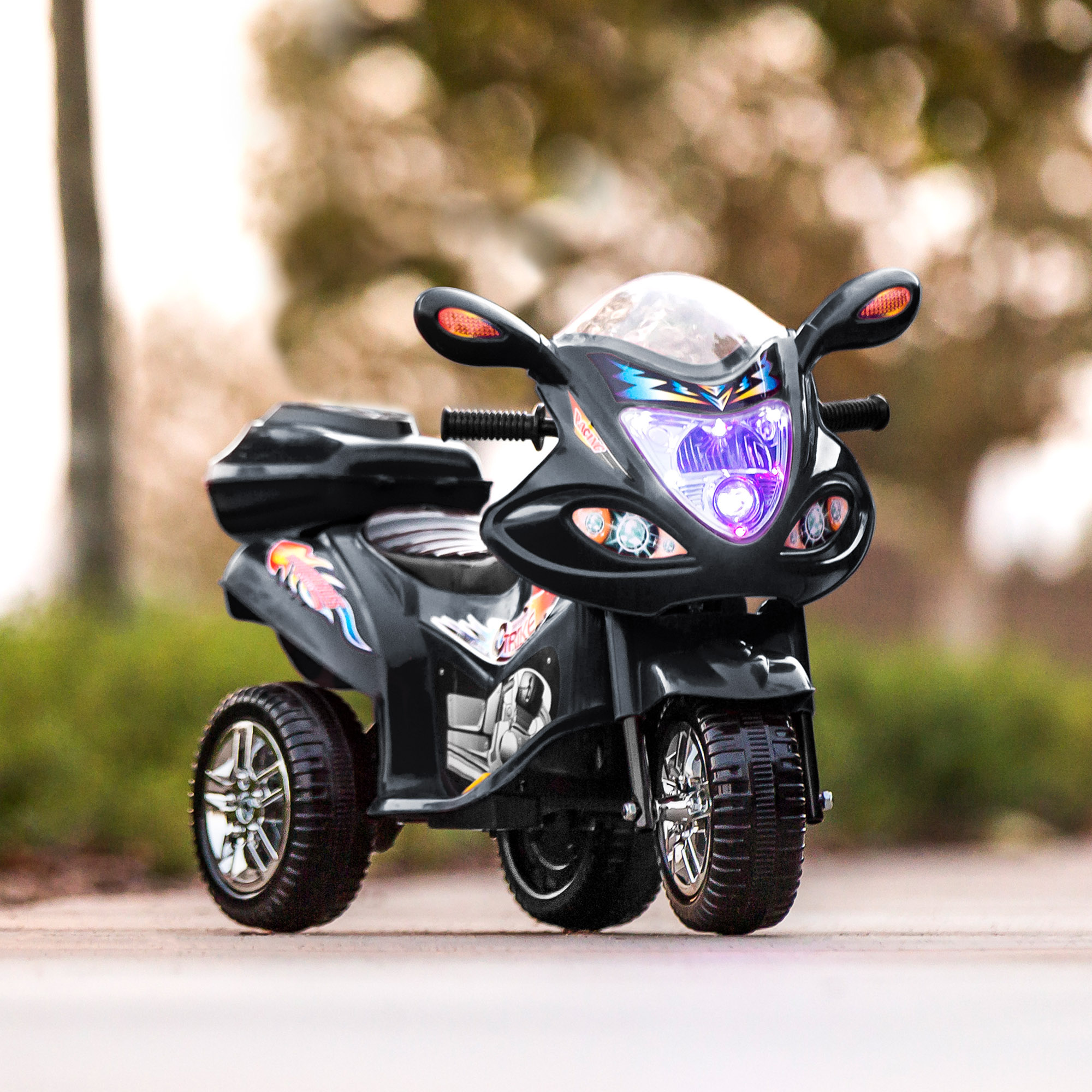 BCP-6V-Kids-3-Wheel-Motorcycle-Ride-On-Toy-w-LED-Lights-Music-Storage thumbnail 8