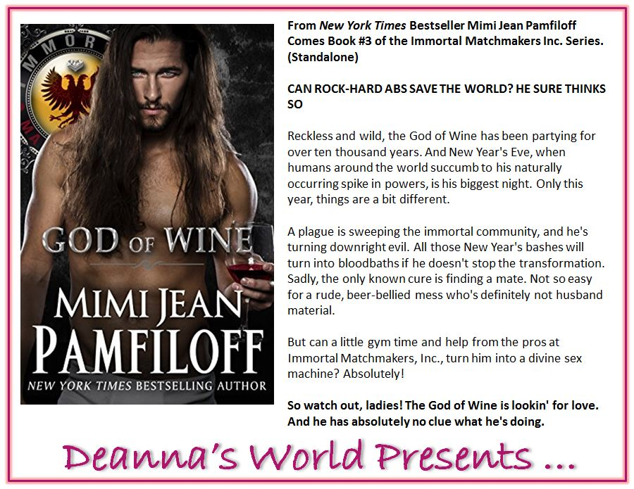 God of Wine by Mimi Jean Pamfiloff blurb