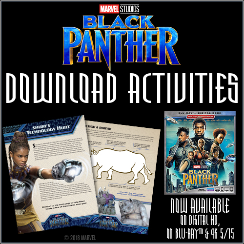 NEW! Activity Button - #BlackPanther - Available TODAY, MAY 15! Plus Digital #Giveaway!