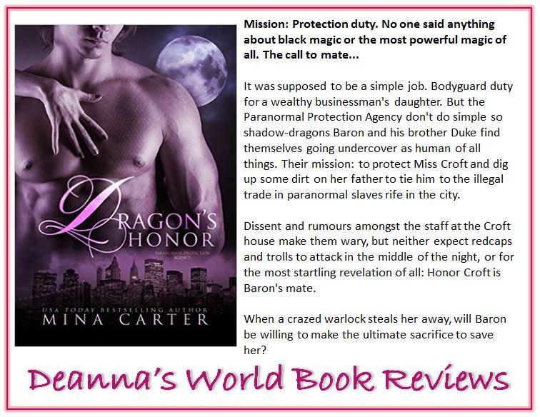 Dragon's Honor by Mina Carter blurb