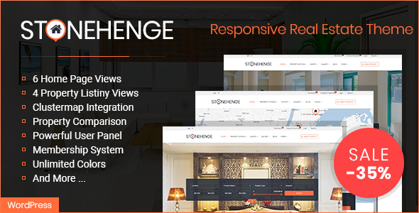 Stonehenge -Real Estate Responsive WordPress Theme