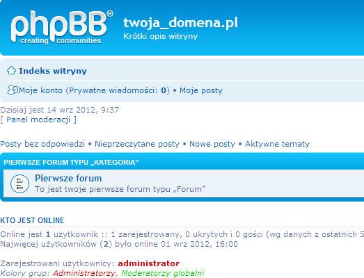 instalacja darmowego forum phpBB