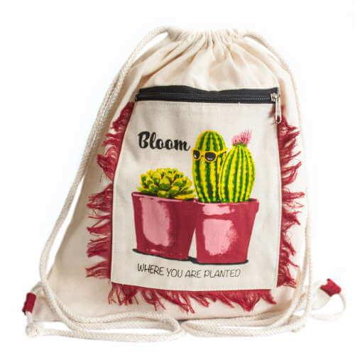 fringe backpack - cactus