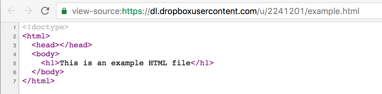 Unrendered HTML
