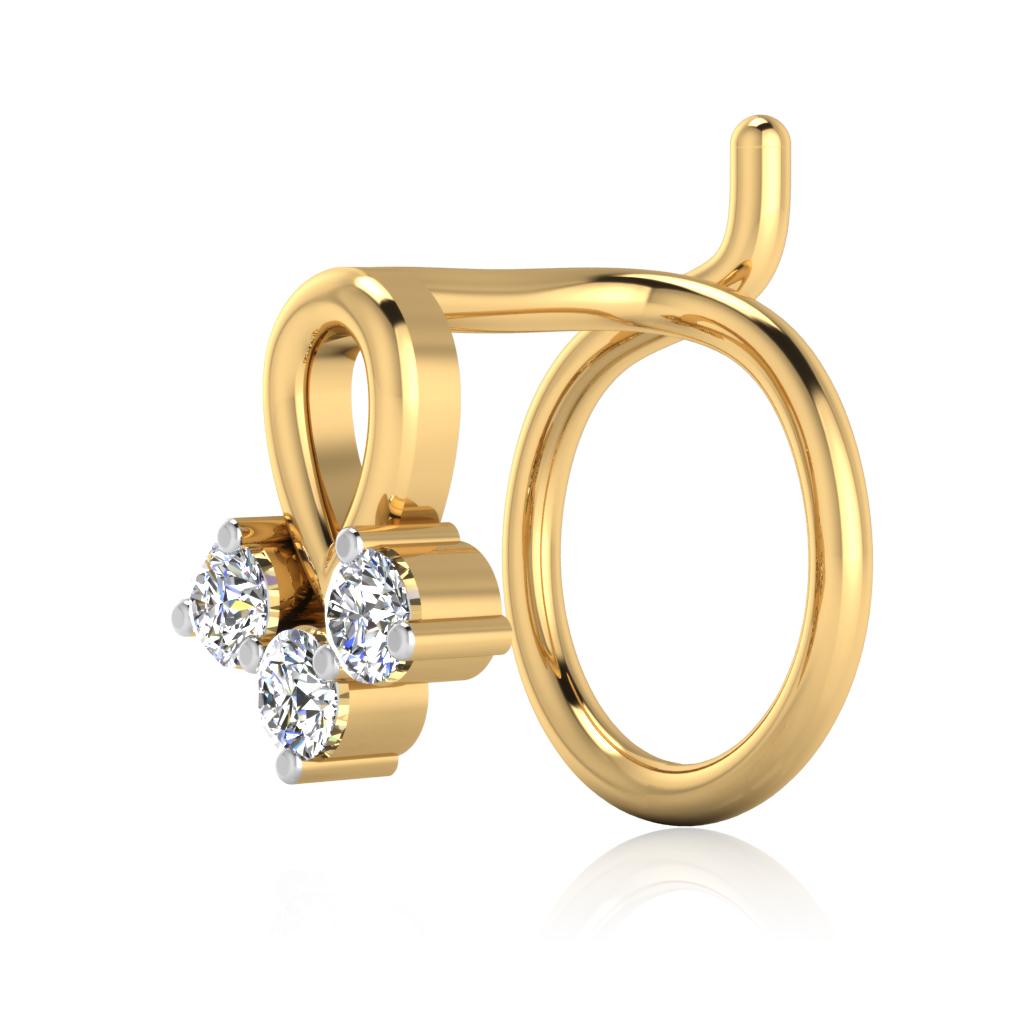 The Nalini Diamond Nose Pin