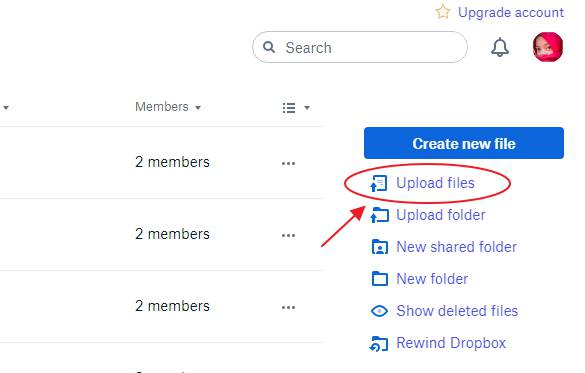 Upload file via browser