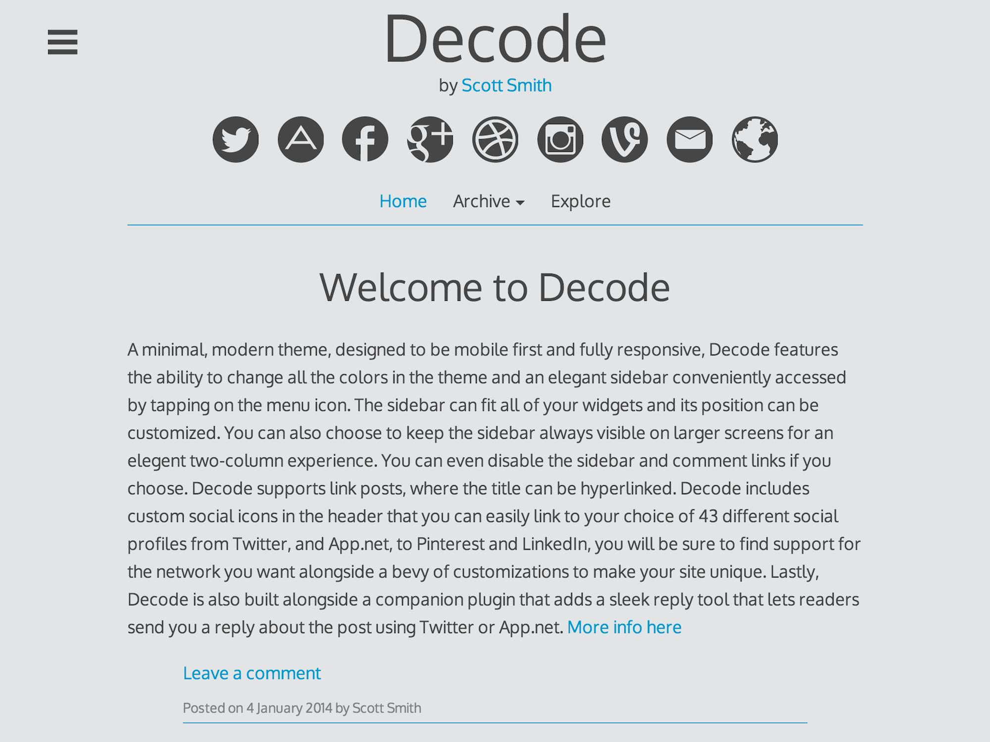 Decode - tong hop theme thang 7