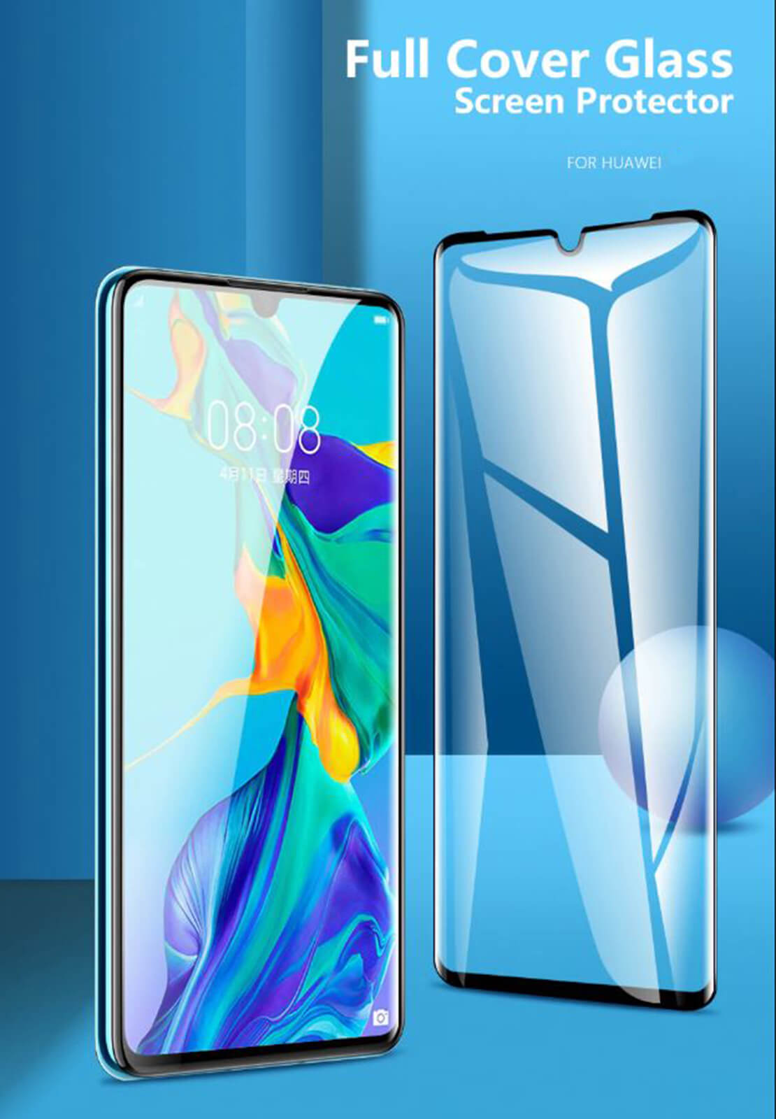 Full-Coverage-3D-Tempered-Glass-Screen-Protector-For-Huawei-P30-P20-Pro-Mate-20 Indexbild 14