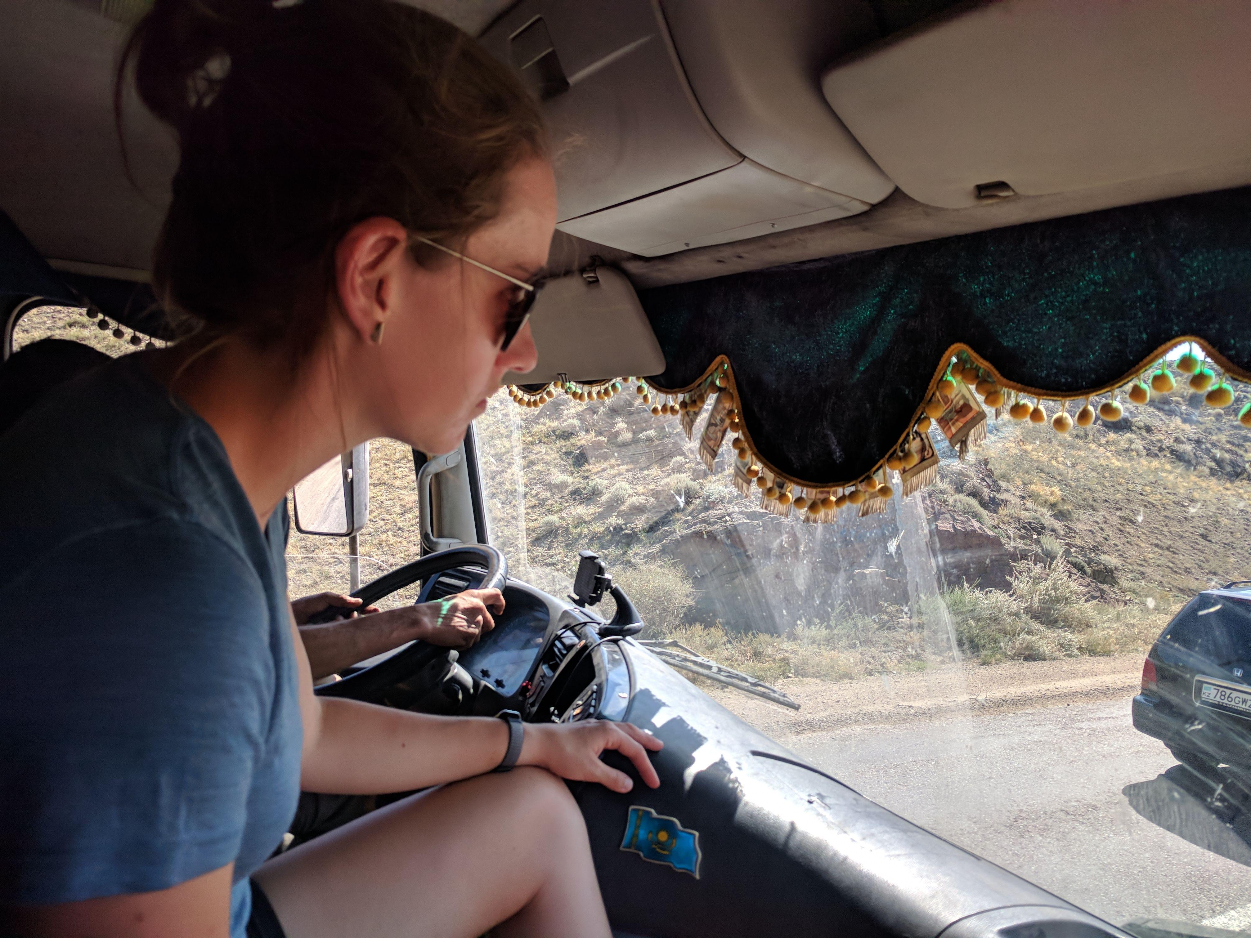 liften in een camion