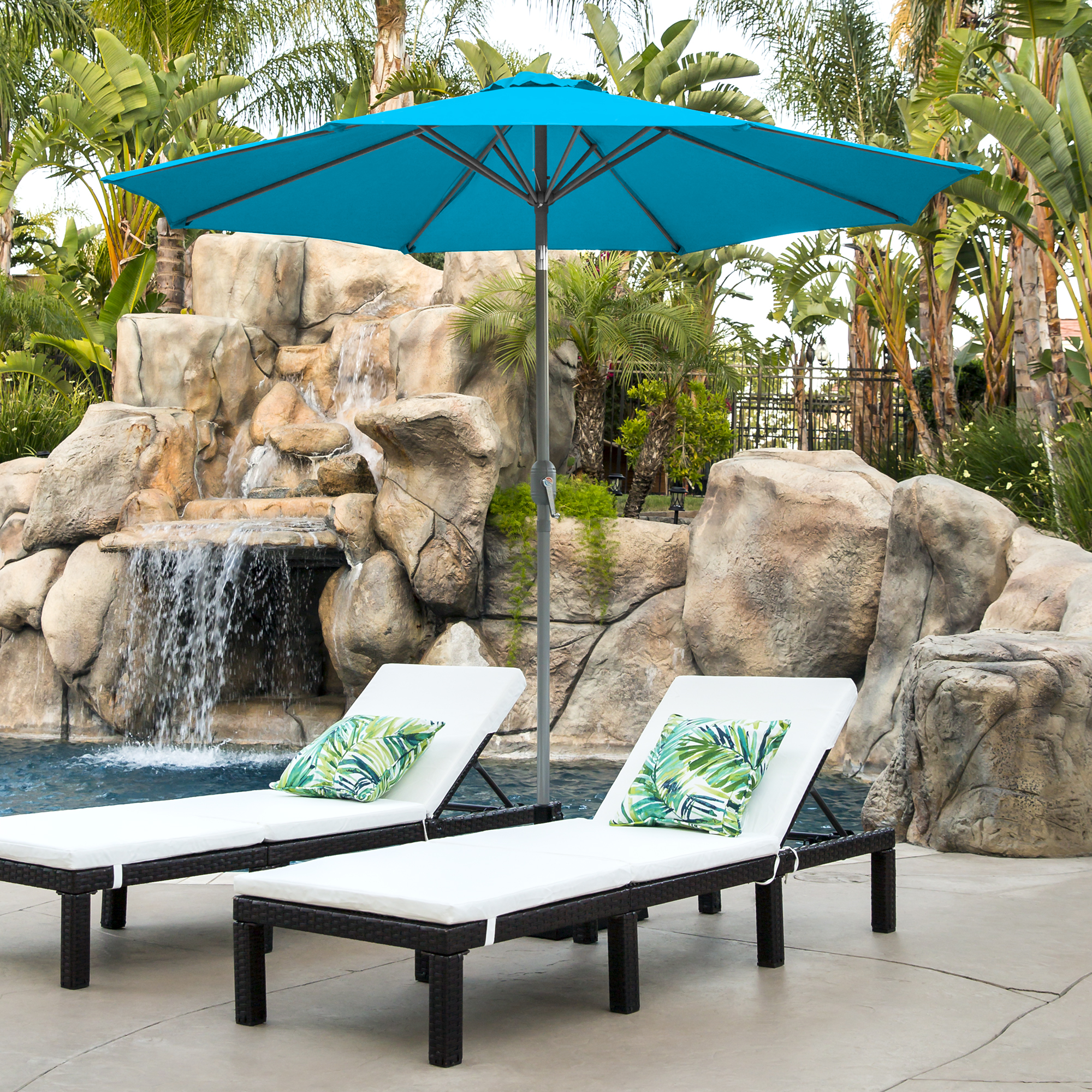 Wind Vent BCP 9ft Outdoor Market Patio Umbrella w// Crank Tilt Adjustment