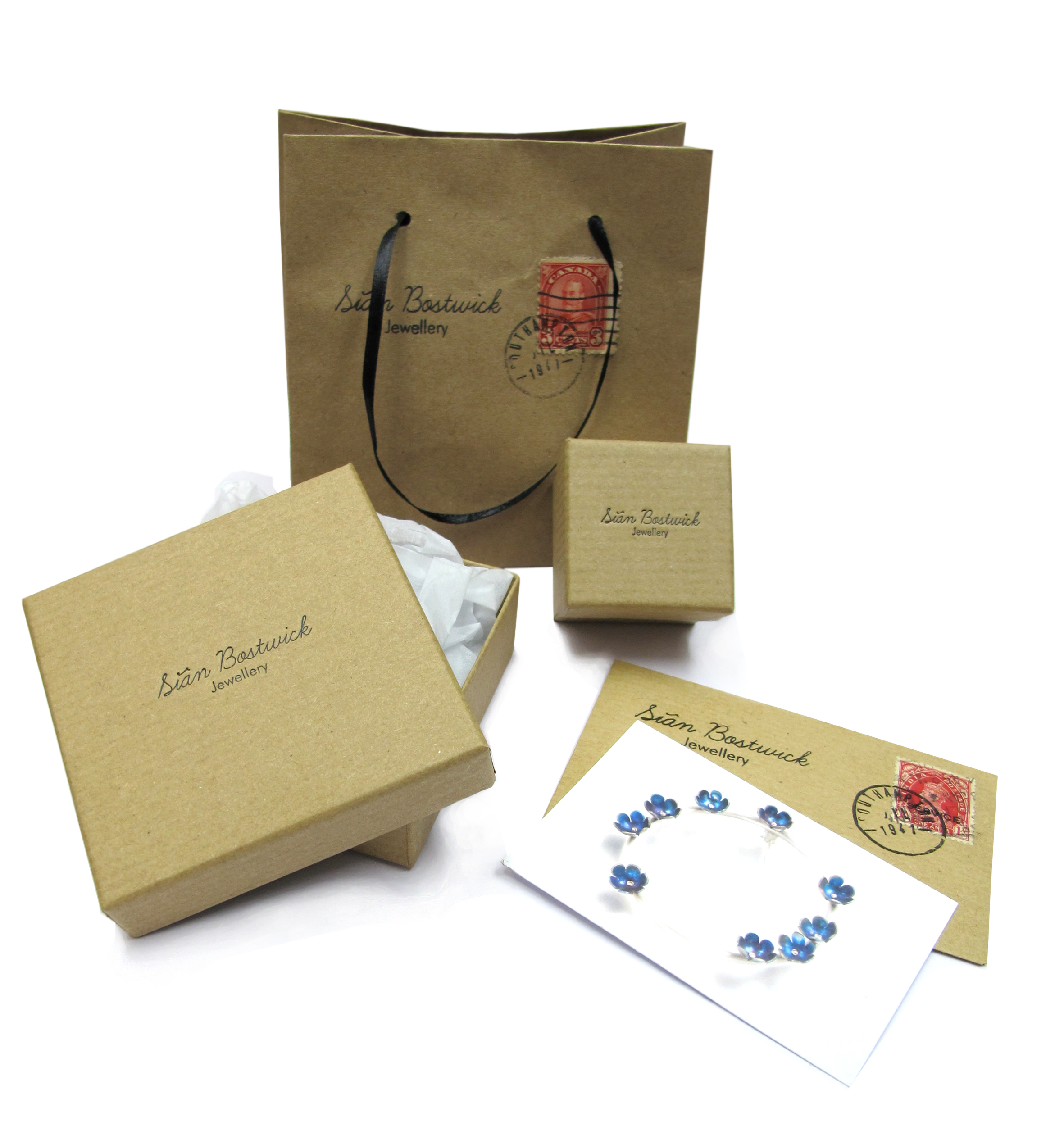 Sian Bostwick Jewellery packaging