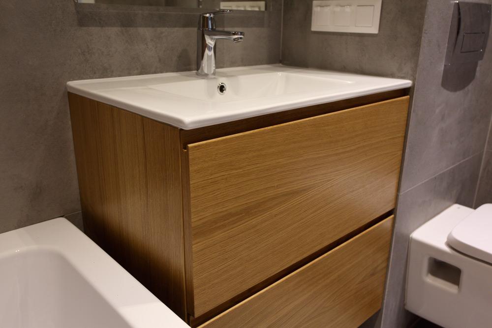 раковина тумба санузел стояк ремонт современный интерьер дизайнерский мебель в санузел