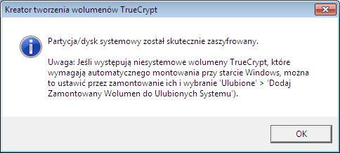 szyfrowanie dysku windows 7 zostało zakończone