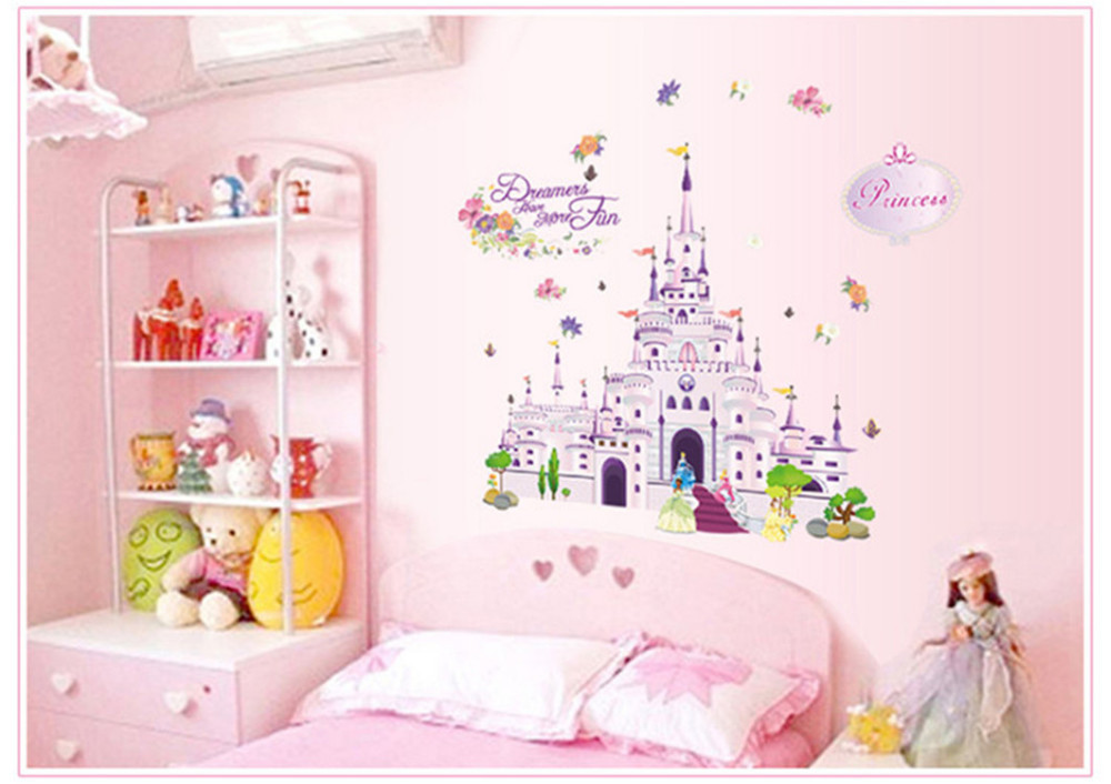 Large Princess Castle Removable Wall Sticker
