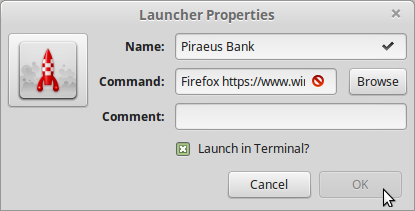 19). firefox must be all lower case