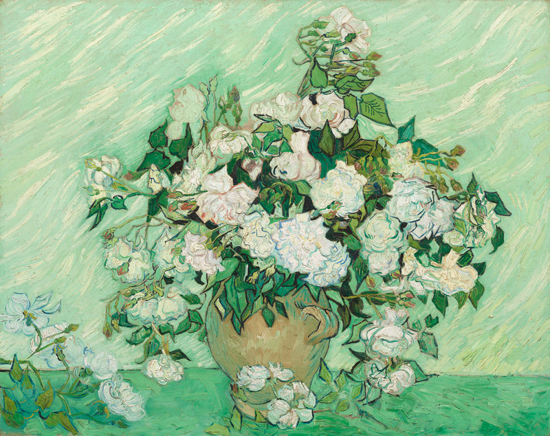 フィンセント・ファン・ゴッホ《薔薇》1890年、ワシントン・ナショナル・ギャラリー)   © National Gallery of Art, Washington D. C., Gift of Pamela Harriman in memory of W. Averell Harriman