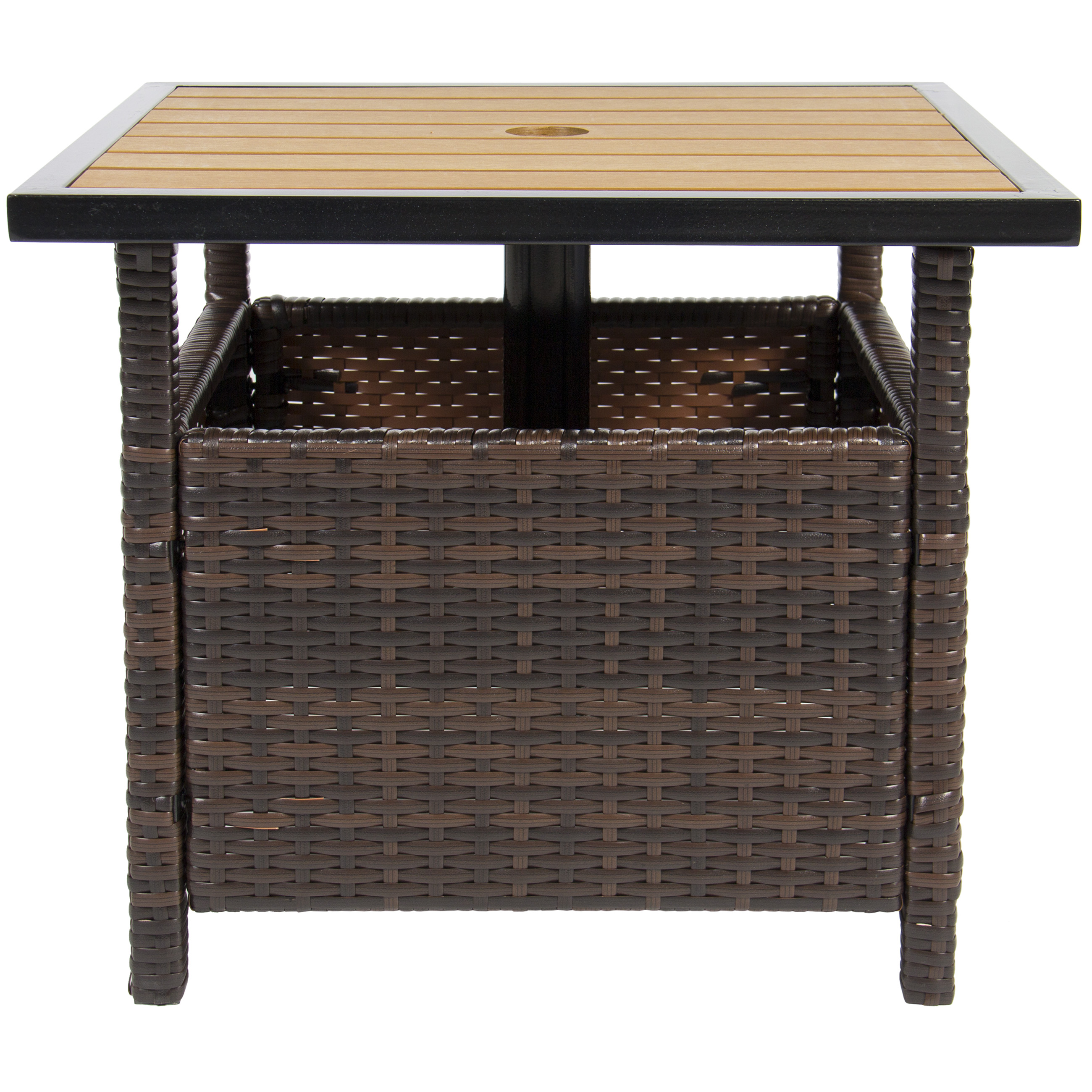 Patio Umbrella Stand Table: BCP Patio Umbrella Stand Wicker Rattan Outdoor Furniture