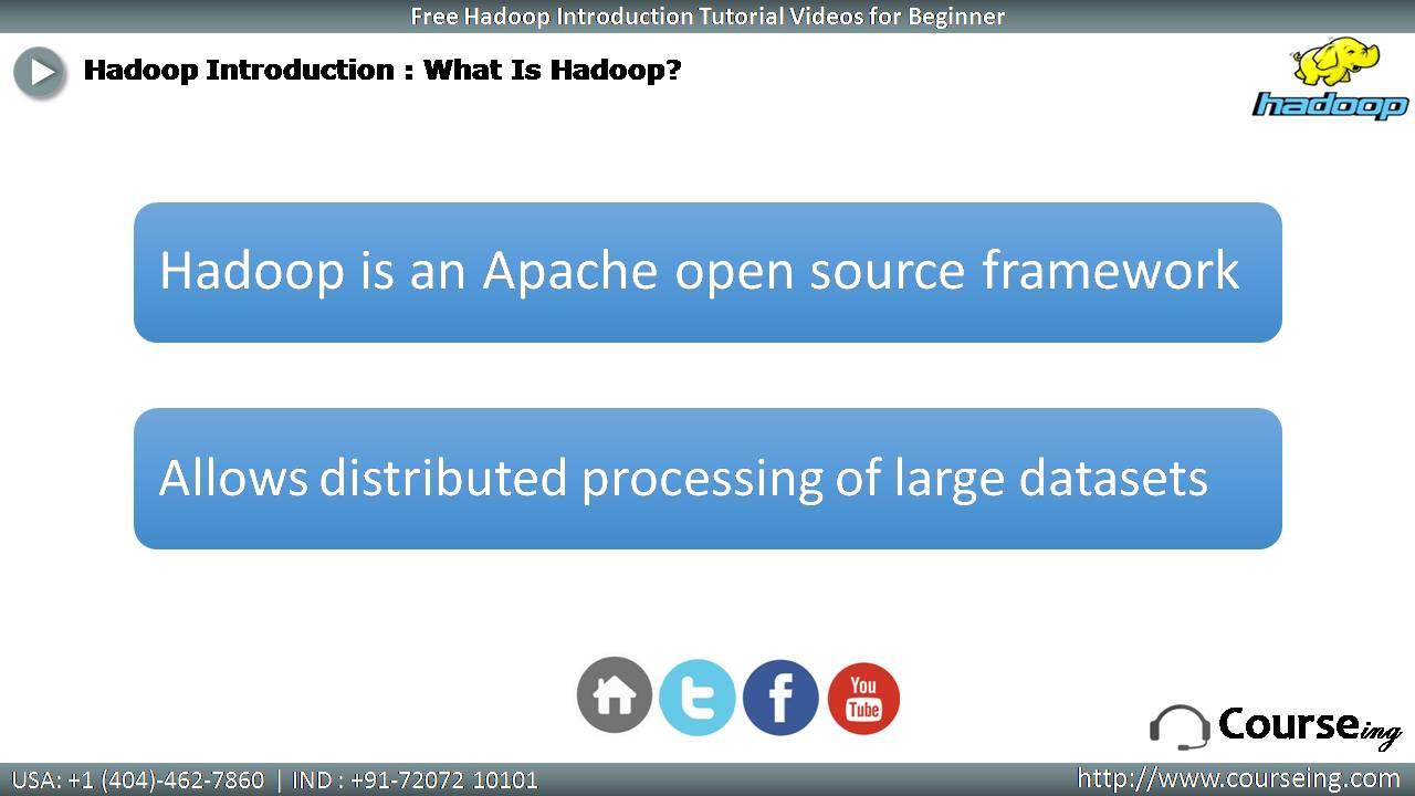 Free Hadoop Introduction What is Hadoop