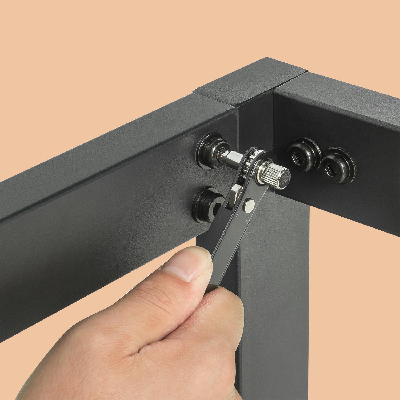 Zinus Industrial Metal Wood Bed Frame Single Double Queen ...