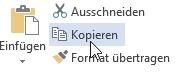 Die Kopieren-Funktion in Word 2016