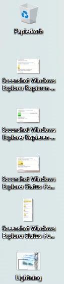 Zwischenablage auf dem Desktop - für einige neu erstellte Grafiken